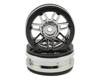Pit Bull Tires Raceline #931 Injector 1.9 Beadlock Wheel (Chrome/Black) (2)