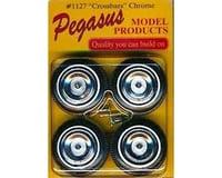 Pegasus Hobbies 1/24-1/25 Crossbars Chrome Rims w/Tires (4)