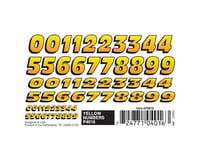 PineCar YELLOW NUMBERS DRY TRANSF | relatedproducts