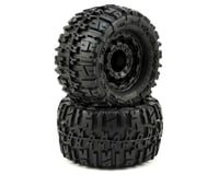 "Pro-Line Trencher 2.8"" Tires w/F-11 Nitro Rear Wheels (2) (Black) (Traxxas Rustler)"