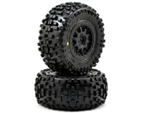 Pro-Line Badlands SC Tires w/ProTrac Renegade Wheels (2) (Black) (Losi TEN-SCT Nitro)