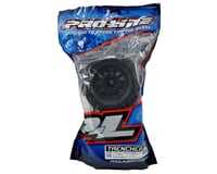 """Image 2 for Pro-Line Trencher X 3.8"""" Tire w/F-11 17mm 1/2"""" Offset MT Wheel (2) (Black) (M2)"""