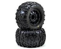 """Pro-Line Rock Rage 3.8"""" Tire w/F-11 17mm 1/2"""" Offset MT Wheel (2) (Black) (Traxxas Revo)"""