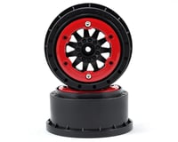 Pro-Line F-11 Bead-Loc Short Course Wheels (Black/Red) (2) | relatedproducts