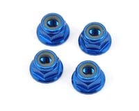 Pro-Line 4mm Serrated Wheel Locknut (Blue) (4)