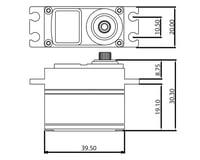 Image 3 for ProTek RC 160T Low Profile High Torque Metal Gear Servo High Voltage/Metal Case