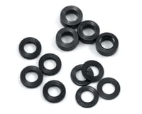 ProTek RC Aluminum Ball Stud Washer Set (Black) (12) (0.5mm, 1.0mm & 2.0mm) (Yokomo BD7)