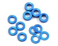 ProTek RC Aluminum Ball Stud Washer Set (Blue) (12) (0.5mm, 1.0mm & 2.0mm) (Losi 22 2.0)
