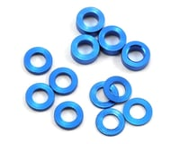 ProTek RC Aluminum Ball Stud Washer Set (Blue) (12) (0.5mm, 1.0mm & 2.0mm) (XRAY XB2)