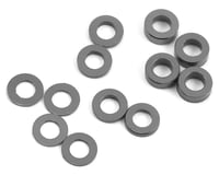 ProTek RC Aluminum Ball Stud Washer Set (Grey) (12) (0.5mm, 1.0mm & 2.0mm) (HB Racing TCX)