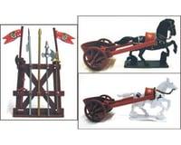 BMC Toys 1/32 Roman Chariot Playset (2 W/2 Horses, Weapons)