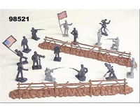 BMC Toys 54mm Gettsyburg Fence & Union/Confederate Figure P