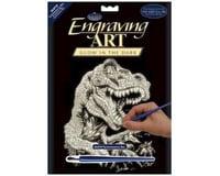 Royal Brush Manufacturing Glow/Dark Foil Engraving Art T-Rex
