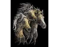 Royal Brush Manufacturing Gold Foil Horses
