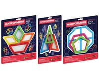 Rainbow Products Magformers Add-On Magnetic Construction Set: Geometric Shapes Assortment, (One random set from the asso