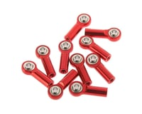 RC4WD M3 Medium Straight Aluminum Rod Ends Red (10)
