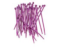 """Racers Edge 4"""" Purple Zip Tie Wraps (30)"""