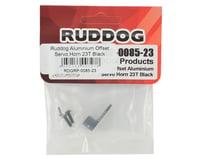 Image 2 for Ruddog Aluminum Offset Servo Horn (Black) (23T - JR/Airtronics/KO)