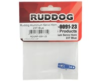 Image 2 for Ruddog Aluminum Servo Horn (Blue) (23T - JR/Airtronics/KO)
