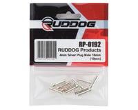 Image 2 for Ruddog 4mm Silver Male Bullet Plug (10) (18mm Long)