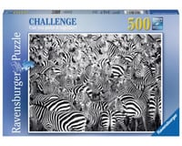 Ravensburger 14807 - Zebra Challenge Series Jigsaw Puzzle (500 Piece), Multicolor