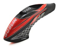 SAB Goblin 700 Competition Canomod Airbrush Canopy (Red/Carbon)