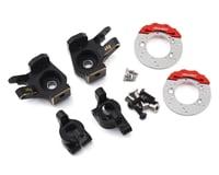 Samix SCX10 II Brass Steering Knuckle, Hub Carrier & Brake Rotor Set (Black) (2) | alsopurchased
