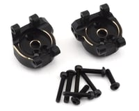 Samix Traxxas TRX-4 Brass Rear Hub Carriers (Black) (2)
