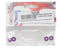 Image 2 for Schumacher 4mm Alloy Wheel Nut (Purple) (4)