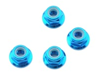 Schumacher Mi4 4mm Aluminum Locknut (Blue) (4)