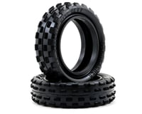 """Schumacher """"Stagger Rib"""" Slim 2.2"""" 1/10 2WD Buggy Front Carpet Tires (2) (Yellow) 
