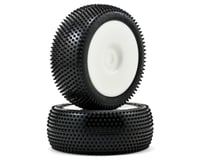 "Schumacher ""Mini Pin"" Pre-Mounted 1/8 Buggy Tires (2) (White)"
