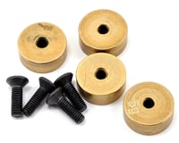 Serpent S411 2.0 Eryx Brass Round Chassis Weight Set (4) (5g ea)