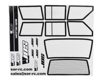 SOR Graphics Axial XJ Window Detail Kit w/Window Mask (Clear)