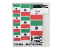 Image 2 for SOR Graphics Universal Mexican Flag Decal Sheet