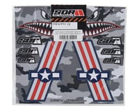 Image 2 for SOR Graphics Warfighter Decal Kit (Red, White & Blue Gloss) (Medium)