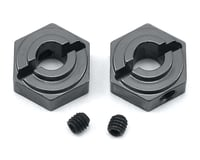 ST Racing Concepts Arrma Vorteks Aluminum Rear Hex Adapters (2) (Gun Metal)