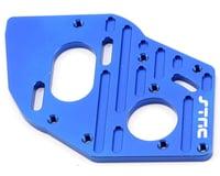 ST Racing Concepts Aluminum Heatsink Motor Plate (Blue) (Team Associated SC10 4x4)