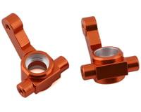 ST Racing Concepts Team Associated DR10 Aluminum Steering Knuckles (Orange) (2)