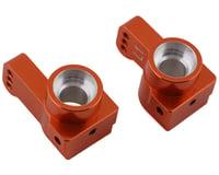 ST Racing Concepts Team Associated DR10 Aluminum Rear Hub Carriers (Orange) (2) (1° Toe)