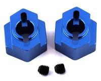 ST Racing Concepts DR10 Aluminum Rear Hex Adapters (2) (Blue)