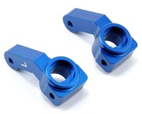 ST Racing Concepts Aluminum Inboard Bearing Steering Knuckles (Blue) (2) (Team Associated RC10 T4.2)