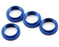 ST Racing Concepts Aluminum Shock Collar Set (Blue) (4)