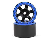 SSD RC Rock Racer 2.2 Beadlock Crawler Wheels (Black) (2)