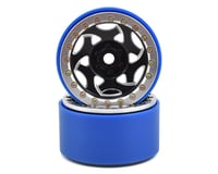 SSD RC 2.2 Champion PL Beadlock Wheels (Black/Silver)