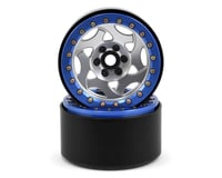SSD RC 2.2 Champion Beadlock Wheels (Silver/Blue)