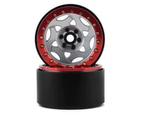 SSD RC 2.2 Champion Beadlock Wheels (Silver/Red)