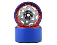 SSD RC 2.2 Champion PL Beadlock Wheels (Silver/Red)