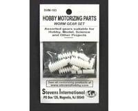 Stevens Assorted Plastic Worm Gear Set (1.9mm ID) (12pcs)