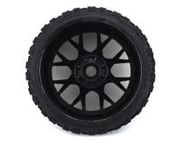 Image 2 for Sweep Terrain Crusher Belted Pre-Mounted Monster Truck Tires (Blue) (2)